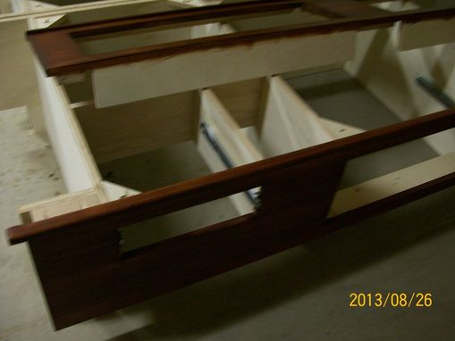 Custom Made Storage Bed With Six Drawers