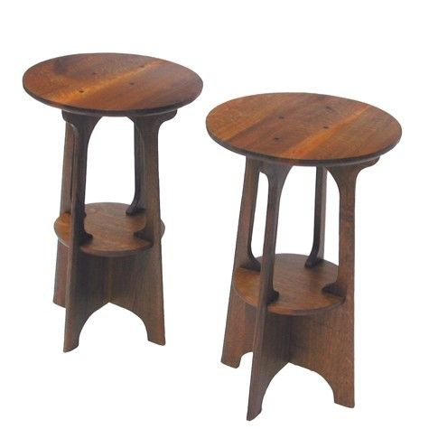 Custom arts and crafts side table by steven shroder 39 s for Arts and crafts side table