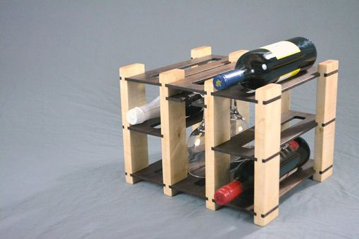 Custom Made Maple And Walnut Wine Rack