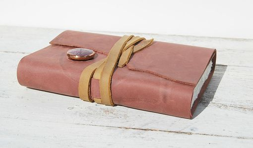 Custom Made Leather Journal Handmade Bound Travel Cowgirl Diary Watercolor Art Notebook