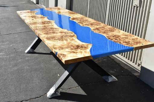 Custom Made Mappa Burl Conference Table