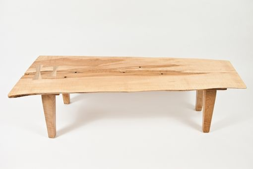 Custom Made Vermont Taphole Sugar Maple Live Edge Coffee Table
