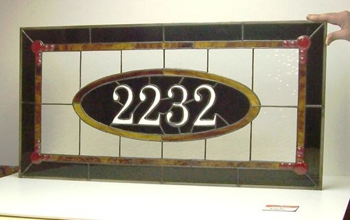 Custom Made Traditional Style Stained Glass Transom Window (Am-8)