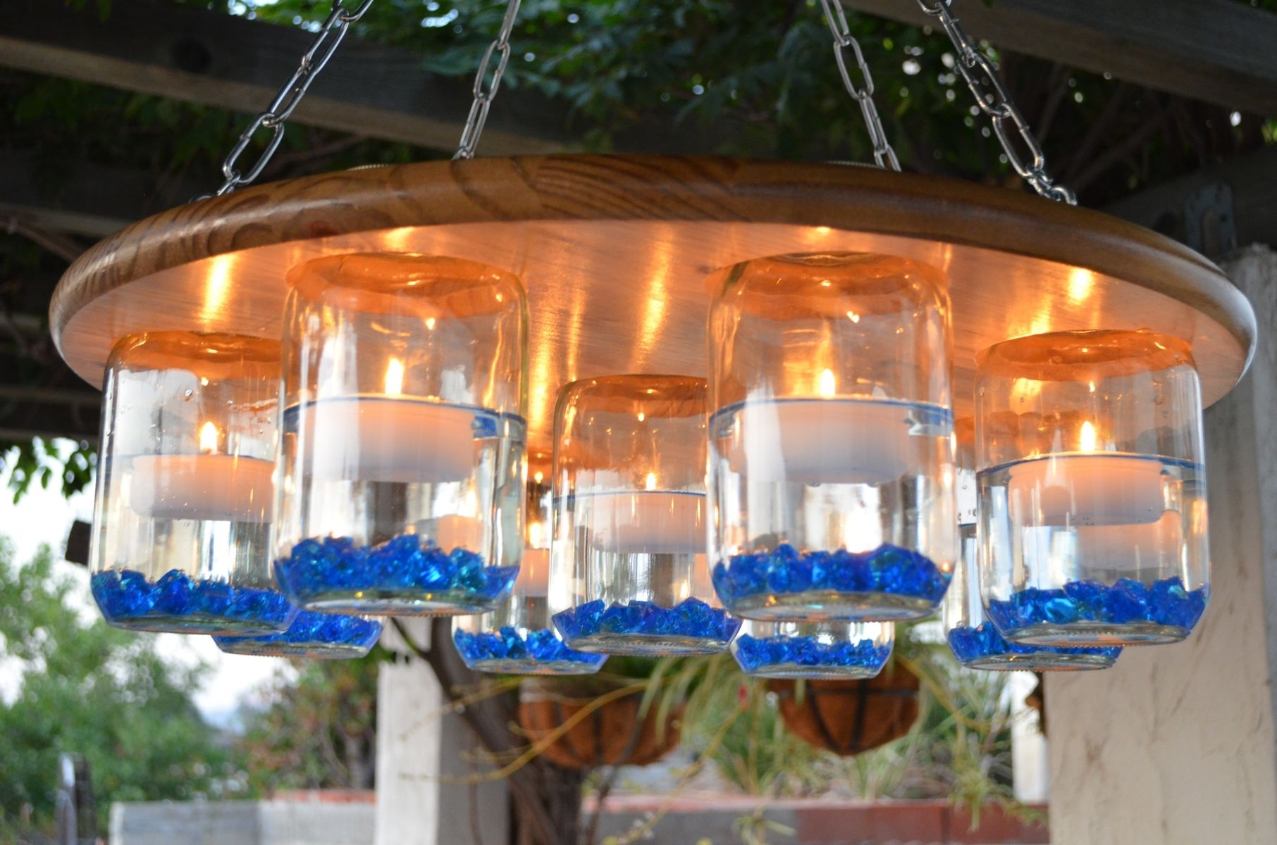 Handmade mason jar chandelier by which krafts custommade custom made mason jar chandelier arubaitofo Gallery