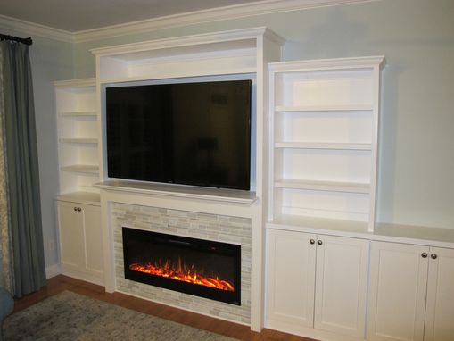 Custom Made Custom Built Entertainment Center With Electric Fireplace