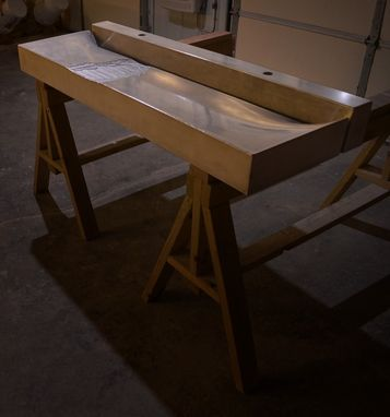 Custom Made Mississippian Sink W/ Riverbed Detail (Concrete)