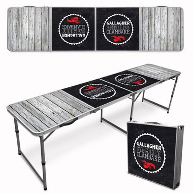 Custom Made Custom Beer Pong Table - Tailgate Table (2x8)