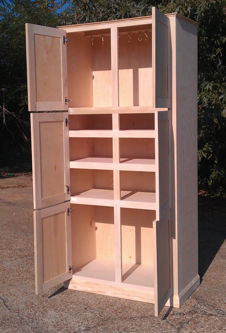 Free Standing Kitchen Pantry Cabinet.Hand Made Freestanding Pantry Cabinet By Ambassador