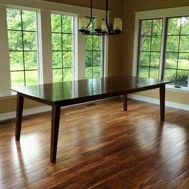 Hand Made Walnut Dining Table Seats 10 Comfortably By