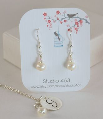 Custom Made Personalized Bridesmaid Necklace And Earrings