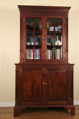 Custom Made Mahogany Book Case