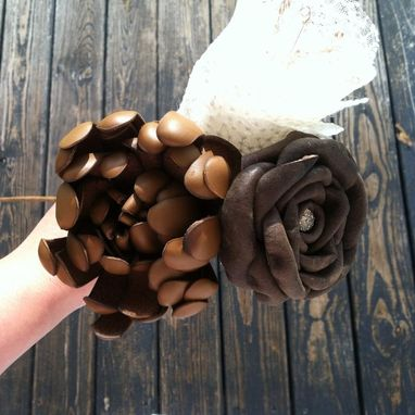 Hand Made Custom Leather Flowers By Dyjo Designs