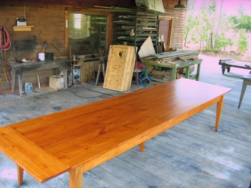 Custom Made 12ft Farm Table With Co Boards And Removable Center Leg