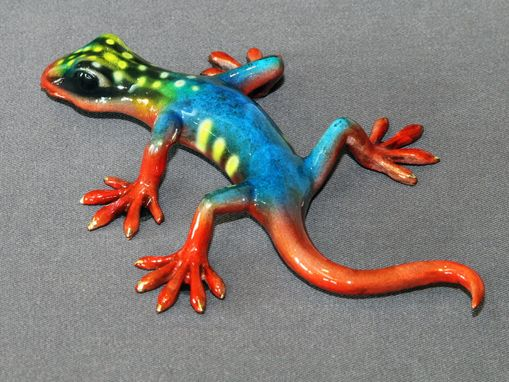 Custom Made Bronze Lizard Gecko Figurine Statue Sculpture Limited Edition Signed Numbered