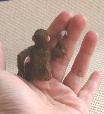 Custom Made 1 :12 Scale Chimpanzee Miniature Dollhouse Monkey