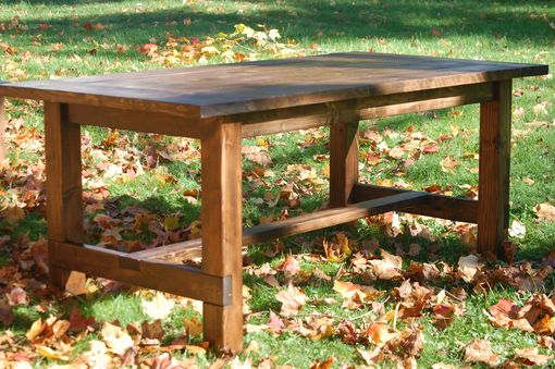 Custom Made Rustic Farmhouse Dining Room Table & Bench Set