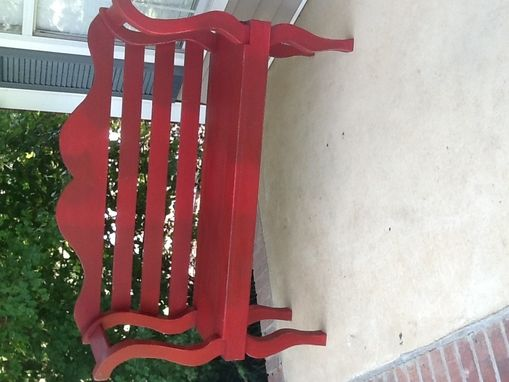 Custom Made Red Bench