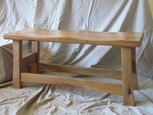 Custom Made Entry Bench, White Oak