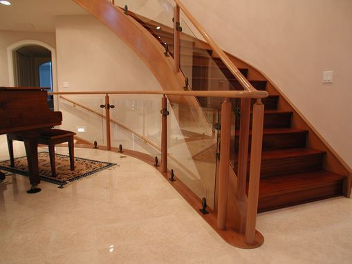 Custom Made Curved Glass Contemporary Stair
