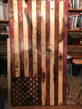 Custom Made Rustic American Flag Wall Art