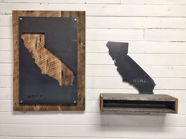 Buy A Handmade California Home State Steel On Reclaimed