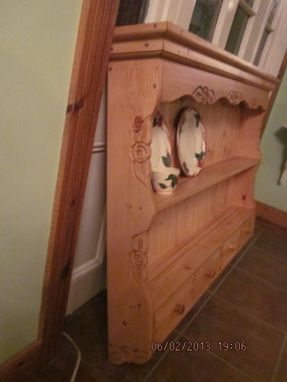 Custom Made Large Shelf Or Wall Hutch