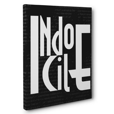 Custom Made Indocile Canvas Wall Art