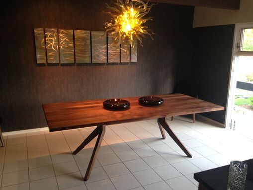 Custom Made 8'-0 Walnut Dining Table With Wood Base