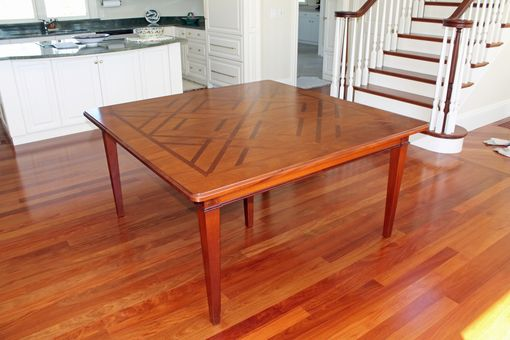 Custom Made Inlayed Dining Room Table