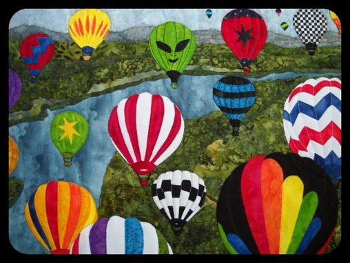 Custom Made Hot Air Balloons Wall Hanging Quilt