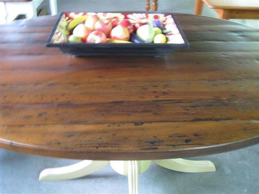 Custom Made Rustic Round Kitchen Table
