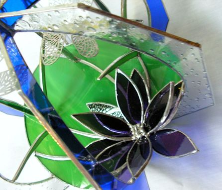 Custom Made Dragonfly Stained Glass Suncatcher Whirl