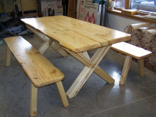 Custom Made Rustic Spruce Dining Table