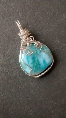 Custom Made Wire Wrapped Oregon Plume Agate Necklace