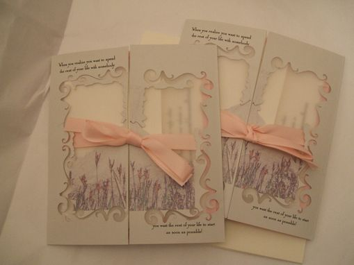 Custom Made Destination Wedding Invitations - Die Cut Gatefold Invitation Suite