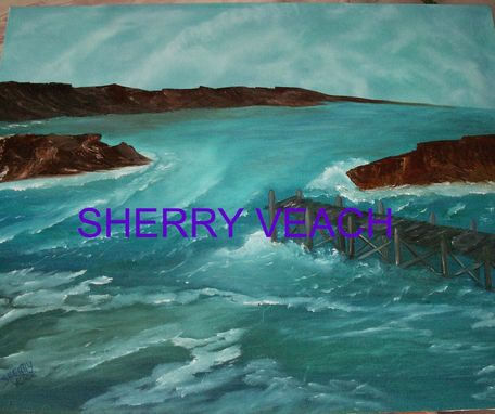 Custom Made Original Oil Canvas Emerald Waters