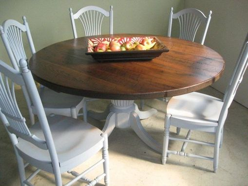Custom Made Round Dining Table & Chairs