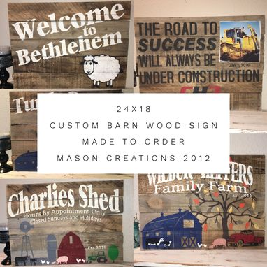 Custom Made 24x18 Barn Wood Custom Sign