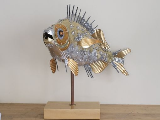 Custom Made Bass Fish Sculpture
