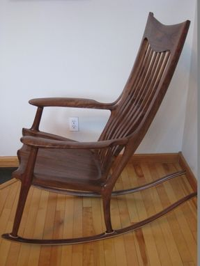 Custom Made Walnut Rocking Chair