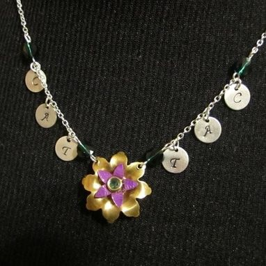 Custom Made Tangled Flower Necklace