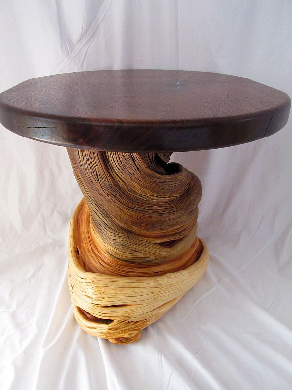 Hand Crafted Rustic Log Furniture End Accent Coffee Table Natural
