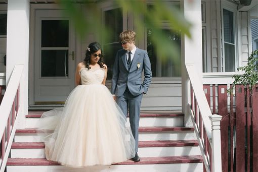 Custom Made Blush Pink Wedding Dress, Tulle Ball Gown, Custom Made In Your Size - Kristine Style