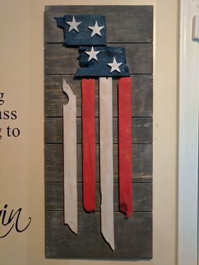 hand crafted american flag wall art