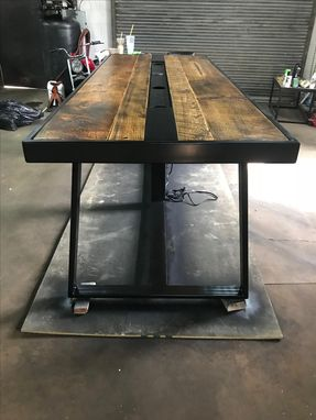 Custom Made Industrial Conference Table With Power