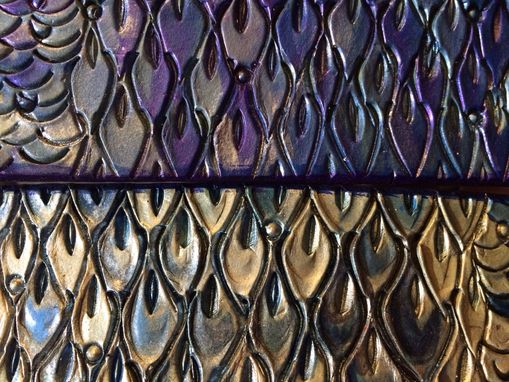 Custom Made Dragon Scale Leather Dog Collars
