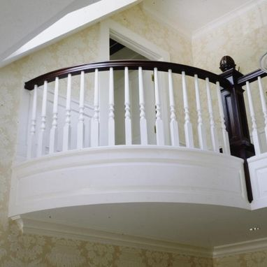 Custom Made Convex Raised Panel Stair Case In Darien, Ct