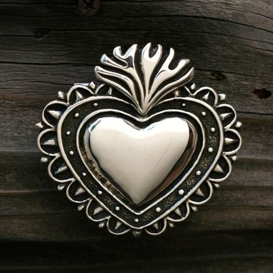 Custom Made Milagro Heart Buckle