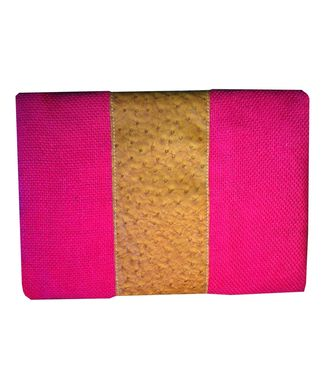 Custom Made Hawaiian Ostrich Envelope Clutch