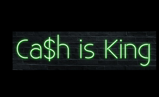 Custom Made Ca$H Is King Neon Sign